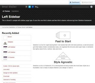 Left Sidebar Page Type